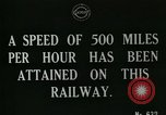 Image of very early maglev train demonstration United Kingdom, 1920, second 3 stock footage video 65675026053