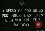 Image of very early maglev train demonstration United Kingdom, 1920, second 4 stock footage video 65675026053