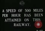 Image of very early maglev train demonstration United Kingdom, 1920, second 5 stock footage video 65675026053