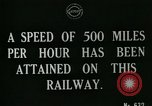 Image of very early maglev train demonstration United Kingdom, 1920, second 6 stock footage video 65675026053