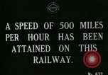 Image of very early maglev train demonstration United Kingdom, 1920, second 7 stock footage video 65675026053
