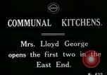 Image of communal kitchen United Kingdom, 1920, second 5 stock footage video 65675026054