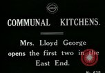 Image of communal kitchen United Kingdom, 1920, second 7 stock footage video 65675026054