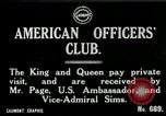 Image of King George V visits American officers club United Kingdom, 1917, second 2 stock footage video 65675026056