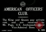 Image of King George V visits American officers club United Kingdom, 1917, second 3 stock footage video 65675026056