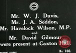 Image of trade union conference London England United Kingdom, 1917, second 5 stock footage video 65675026058