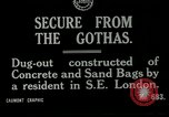 Image of World War I era air raid shelter London England United Kingdom, 1918, second 8 stock footage video 65675026060