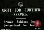 Image of Unfit French soldiers return home World War 1 Switzerland, 1917, second 1 stock footage video 65675026061