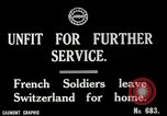 Image of Unfit French soldiers return home World War 1 Switzerland, 1917, second 2 stock footage video 65675026061