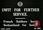 Image of Unfit French soldiers return home World War 1 Switzerland, 1917, second 5 stock footage video 65675026061