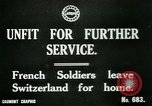 Image of Unfit French soldiers return home World War 1 Switzerland, 1917, second 6 stock footage video 65675026061