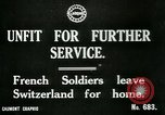 Image of Unfit French soldiers return home World War 1 Switzerland, 1917, second 7 stock footage video 65675026061