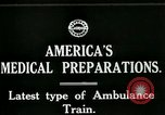 Image of U.S. Army Ambulance Train World War I United States USA, 1917, second 5 stock footage video 65675026062