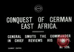 Image of General Smuts preparing invasion of German East Africa Africa, 1916, second 3 stock footage video 65675026064