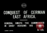 Image of General Smuts preparing invasion of German East Africa Africa, 1916, second 4 stock footage video 65675026064
