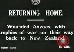Image of World War I Anzac soldiers of New Zealand return home United Kingdom, 1917, second 1 stock footage video 65675026067