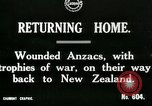 Image of World War I Anzac soldiers of New Zealand return home United Kingdom, 1917, second 3 stock footage video 65675026067