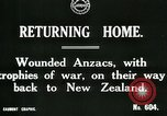 Image of World War I Anzac soldiers of New Zealand return home United Kingdom, 1917, second 4 stock footage video 65675026067