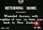 Image of World War I Anzac soldiers of New Zealand return home United Kingdom, 1917, second 5 stock footage video 65675026067
