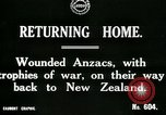 Image of World War I Anzac soldiers of New Zealand return home United Kingdom, 1917, second 6 stock footage video 65675026067