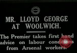 Image of David Lloyd George Woolwich London England, 1917, second 2 stock footage video 65675026068