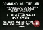 Image of French Nieuport 11 aircraft in World War I Verdun France, 1916, second 3 stock footage video 65675026069