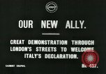 Image of British demonstration World War I London England United Kingdom, 1915, second 4 stock footage video 65675026073