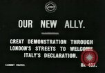 Image of British demonstration World War I London England United Kingdom, 1915, second 5 stock footage video 65675026073