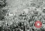 Image of British demonstration World War I London England United Kingdom, 1915, second 10 stock footage video 65675026073