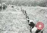Image of British soldiers digging trenches France, 1916, second 5 stock footage video 65675026076