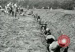 Image of British soldiers digging trenches France, 1916, second 9 stock footage video 65675026076