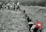 Image of British soldiers digging trenches France, 1916, second 11 stock footage video 65675026076
