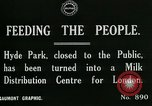 Image of Hyde park serves as wartime milk distribution center London England United Kingdom, 1915, second 7 stock footage video 65675026084