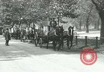 Image of Hyde park serves as wartime milk distribution center London England United Kingdom, 1915, second 10 stock footage video 65675026084