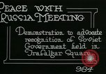 Image of British campaign to recognize Soviet Russia London England United Kingdom, 1919, second 3 stock footage video 65675026085