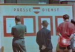Image of news billboard Austria, 1945, second 5 stock footage video 65675026243