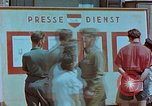 Image of news billboard Austria, 1945, second 6 stock footage video 65675026243
