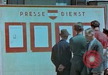Image of news billboard Austria, 1945, second 9 stock footage video 65675026243
