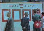 Image of news billboard Austria, 1945, second 10 stock footage video 65675026243