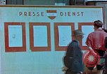 Image of news billboard Austria, 1945, second 11 stock footage video 65675026243