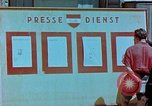 Image of news billboard Austria, 1945, second 12 stock footage video 65675026243