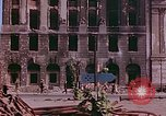 Image of bomb damaged buildings Berlin Germany, 1945, second 7 stock footage video 65675026247