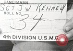 Image of 4th division marines Iwo Jima, 1945, second 1 stock footage video 65675026262