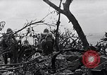 Image of Marines clearing Japanese defenders from a ridge Iwo Jima, 1945, second 11 stock footage video 65675026282
