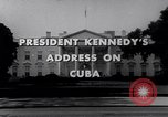 Image of Kennedy address on Cuban Missile Crisis Washington DC United States USA, 1962, second 8 stock footage video 65675026294