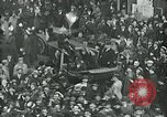 Image of armistice celebration with effigy Paris France, 1918, second 5 stock footage video 65675026313