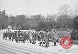 Image of school children demonstrate Berlin Germany, 1919, second 3 stock footage video 65675026325