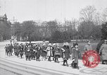 Image of school children demonstrate Berlin Germany, 1919, second 4 stock footage video 65675026325