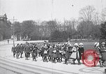 Image of school children demonstrate Berlin Germany, 1919, second 7 stock footage video 65675026325