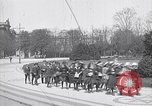 Image of school children demonstrate Berlin Germany, 1919, second 8 stock footage video 65675026325